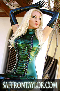 Official website of Glamour and Latex Fashion Model Saffron Taylor