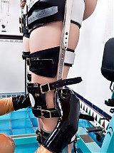 Rubber clinic patient full body leg braces